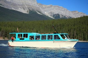 The best way to enjoy Banff's largest lake is on a tour boat