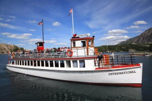 Tours boats operate on Upper Waterton Lake throughout summer.