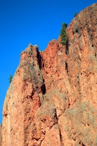 These distinctive red cliffs near Radium Hot Springs are rich in iron.