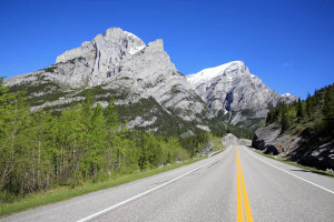 Highway 40 through the Kananaskis Valley
