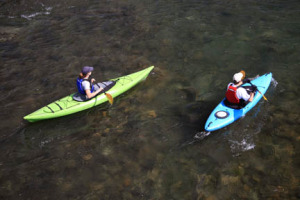 Kayaking in Waterton Lakes National Park.