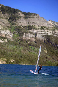 Waterton Lakes windsurfing