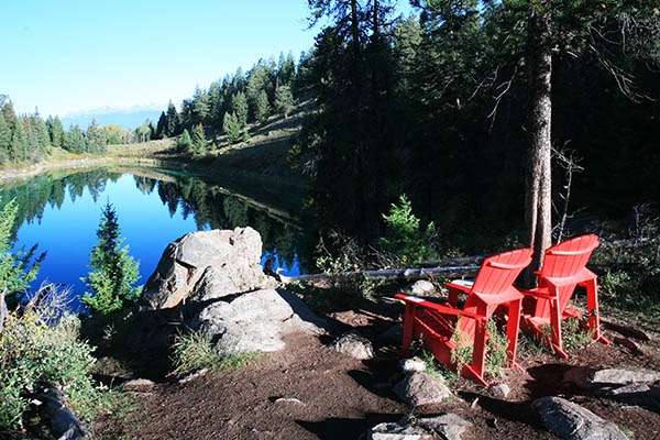 Red Chairs along the Valley of the Five Lakes Trail.