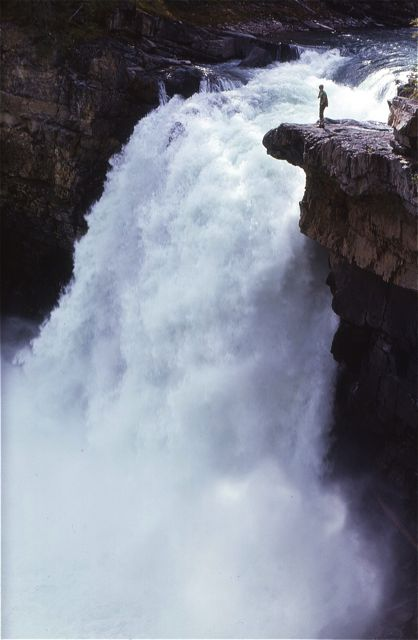 Though not as high as some, Snake Indian Falls is one of the most impressive waterfalls in the Rockies.