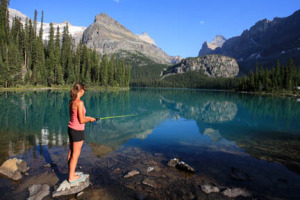 Fishing at Lake O'Hara