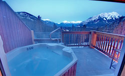 Hidden Ridge Resort is one of the few Banff hotels with private outdoor hot tubs.