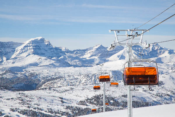 The new heated TeePee Town LX heated chairlift.
